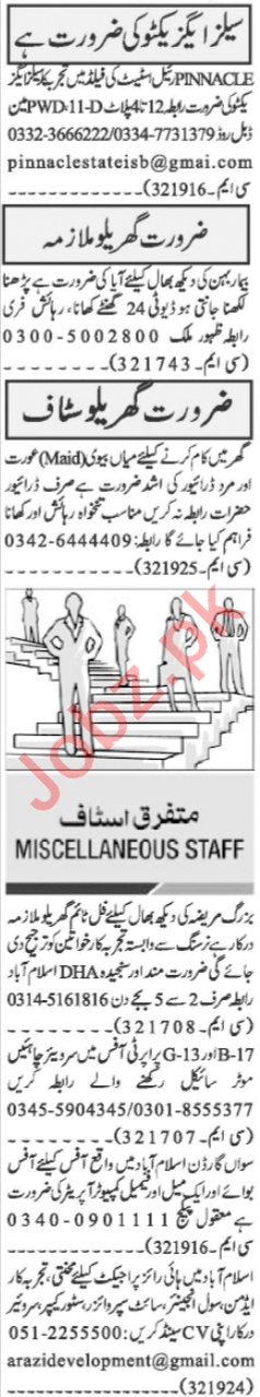 Sales Executive & Recovery Officer Jobs 2020 in Islamabad
