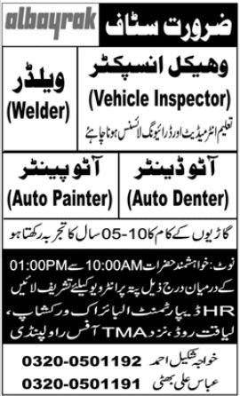 Albayrak Auto Workshop Jobs 2020