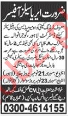 Area Sales Officer Jobs in Trading Company
