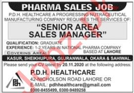 Sales Manager Jobs in PDH Healthcare Pharma Company