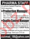 Management Jobs in Pharma Company