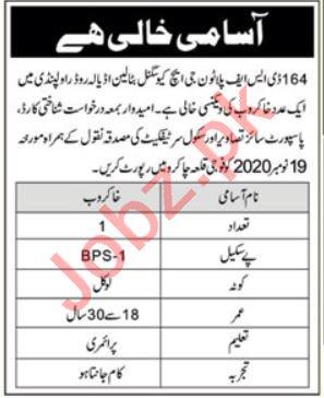 164 DSF Platoon GHQ Signal Battalion Rawalpindi 2020 Jobs