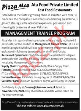 Atsa Food Private Limited Management Trainee Program 2020