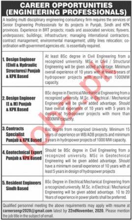 Engineering Staff Jobs in Engineering Consultancy Firm