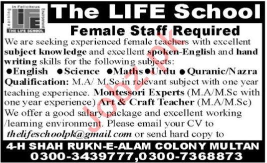 The Life School Teaching Staff Jobs 2020