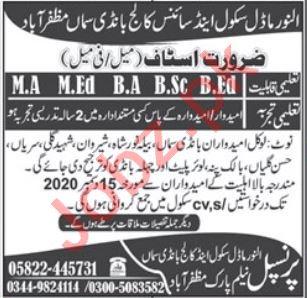 Al Noor Model School & Science College Muzaffarabad Jobs 202
