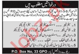 Finance Executive & Service Engineer Jobs 2020 in Faisalabad