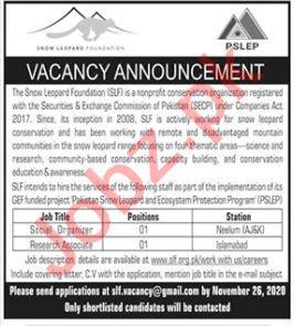 Pakistan Snow Leopard & Ecosystem Protection PSLEP Jobs 2020