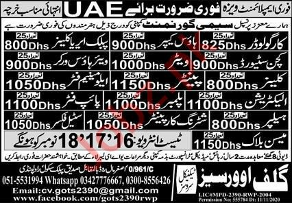 House Keeper & Public Area Cleaner Jobs 2020 in UAE