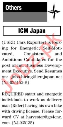 The News Sunday Classified Ads 15 Nov 2020 for General Staff