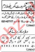Nawaiwaqt Sunday Classified Ads 15 Nov 2020 House Staff