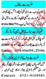 Mashriq Sunday Classified Ads 15 Nov 2020 for Office Staff