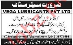 Sales & Marketing Staff Jobs 2020 in Vega Lubricants Lahore