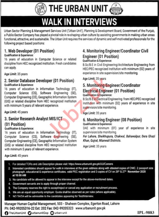 Monitoring Engineer & Web Developer Jobs 2020 in Punjab