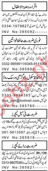 Principal & Teacher Jobs 2020 in Peshawar