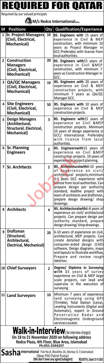 Site Engineer & Construction Manager Jobs 2020 in Qatar