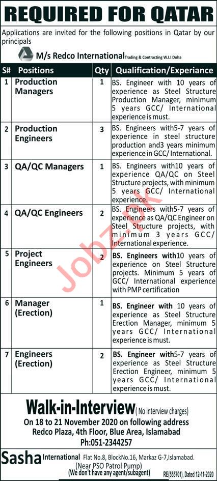 Production Manager & Production Engineer Jobs 2020 in Qatar