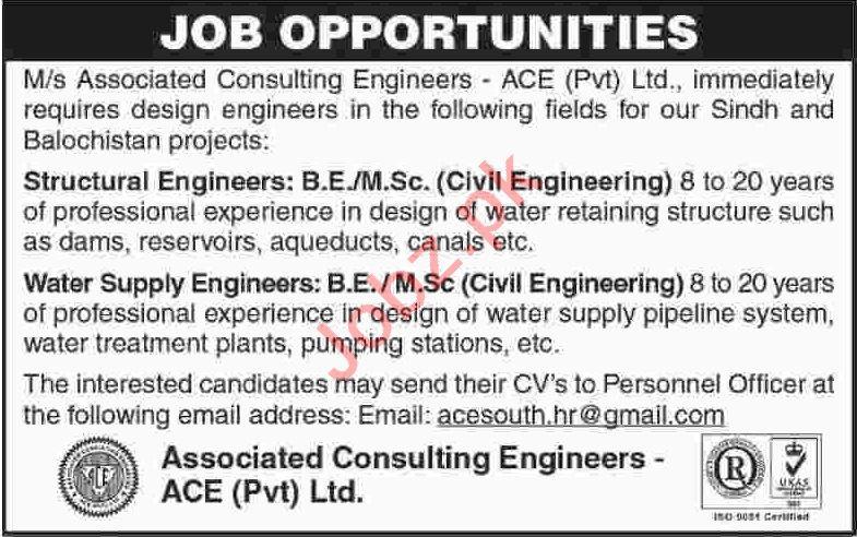Structural Engineer & Water Supply Engineer Jobs 2020