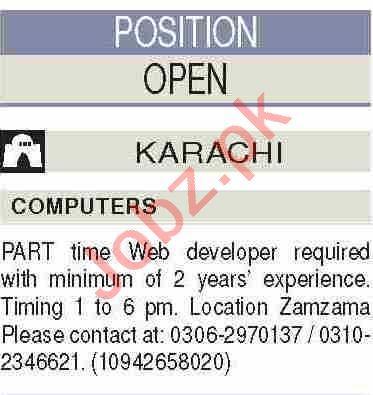 Web Developer & PHP Developer Jobs 2020 in Karachi