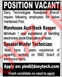 Woofer Technician & Warehouse Assistant Jobs 2020