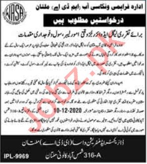 Multan Development Authority MDA Jobs 2020 for Legal Advisor