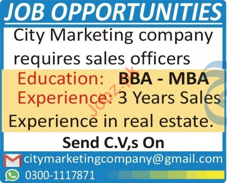 City Marketing Peshawar Jobs 2020 for Marketing Staff
