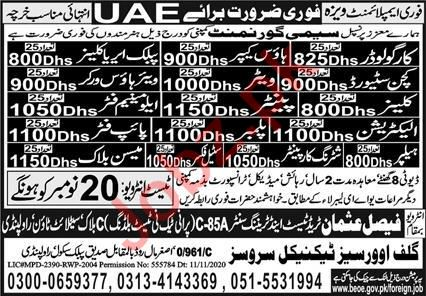 Fork Lift Operator & Kitchen Steward Jobs 2020 in UAE