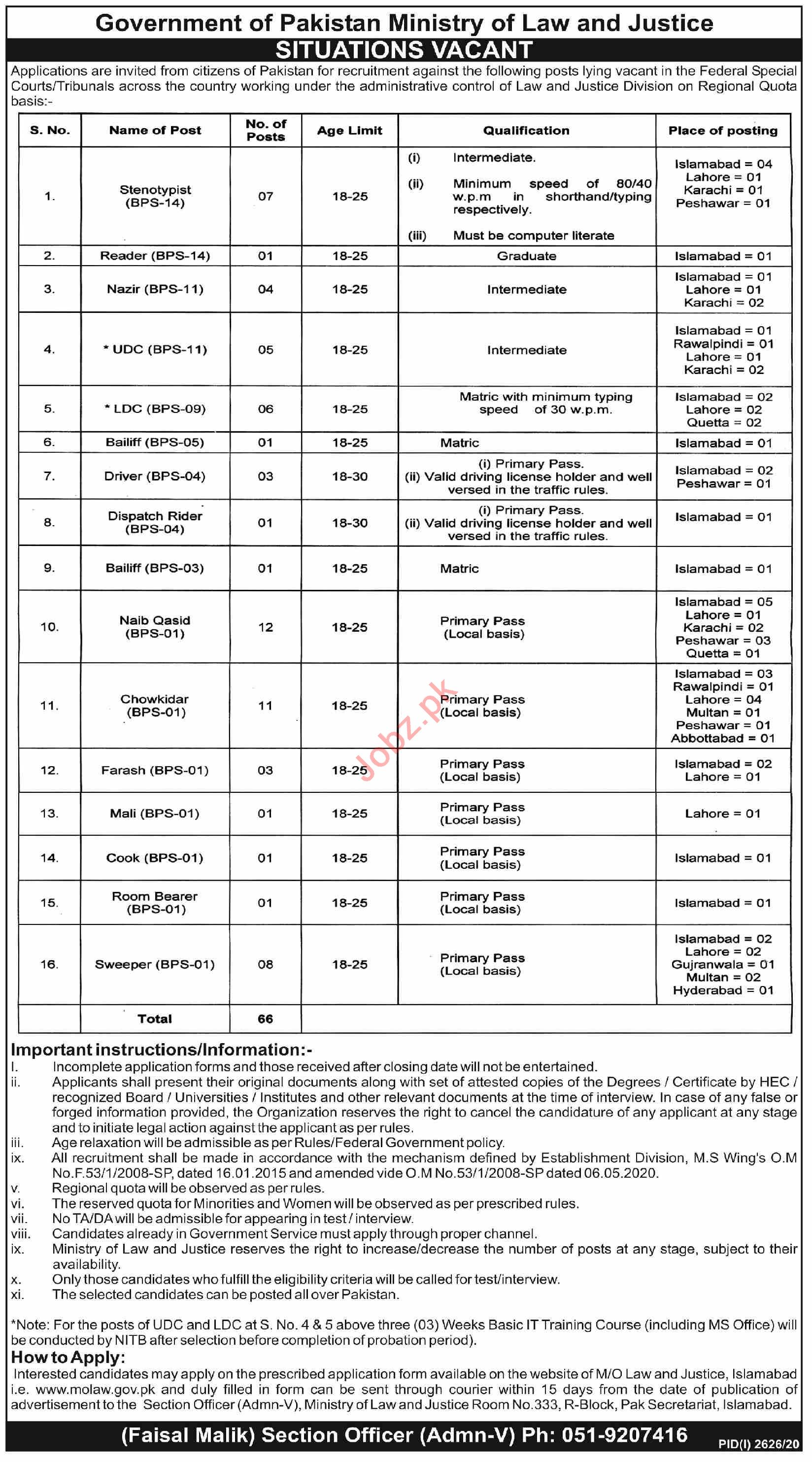 Federal Special Courts & Tribunals Jobs 2020