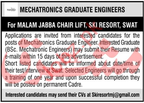 Ski Resort Malam Jabba Jobs 2020 for Mechatronics Engineer