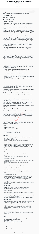 UNDP Pakistan Jobs 2020 for Field Researcher