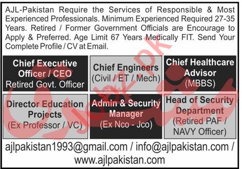 Chief Executive Officer & Chief Healthcare Advisor Jobs 2020