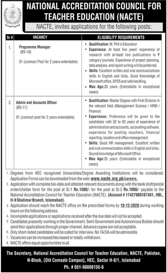 National Accreditation Council for Teacher Education Jobs
