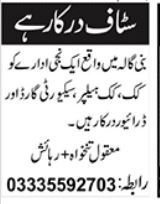 Miscellaneous Staff Jobs 2020 in Islamabad