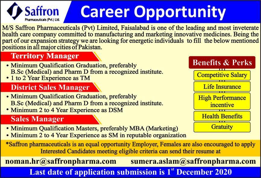 Saffron Pharmaceuticals Company Jobs 2020