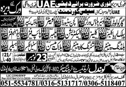 Cargo Loader and House Keeper Jobs 2020 in UAE