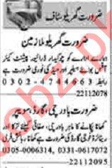 Dunya Sunday Classified Ads 22 Nov 2020 for House Staff