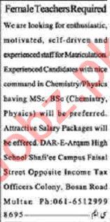 Dunya Sunday Classified Ads 22 Nov 2020 for Teaching Staff