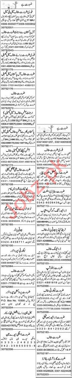 Express Sunday Lahore Classified Ads 22 Nov 2020