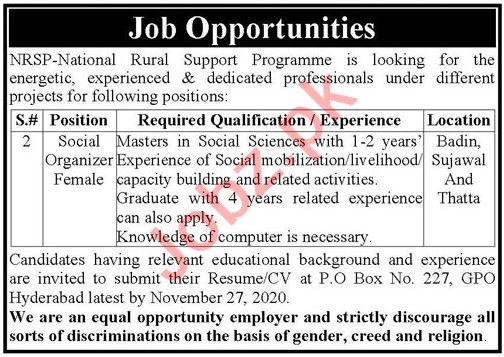 National Rural Support Programme NRSP Jobs 2020