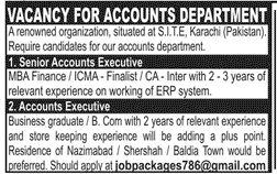 Accounting Staff Jobs 2020 in Karachi