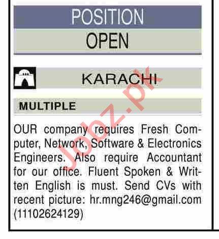 Network Engineer & Electronics Engineer Jobs 2020