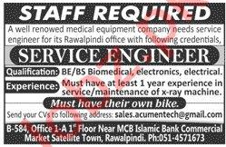 Engineer & Service Engineer Jobs 2020 in Rawalpindi