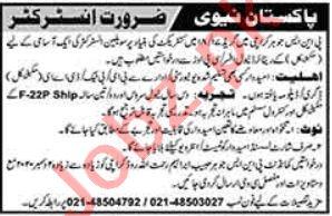 PNS Jauhar Karachi Jobs 2020 for Civil Instructor