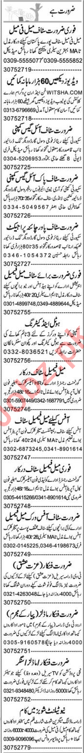 Supervisor & Computer Operator Jobs 2020 in Lahore