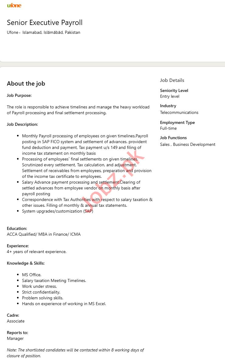 Senior Executive Payroll & Executive Payroll Jobs 2020