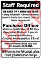 Dr Masood Homoeopathic Pharmaceuticals Lahore Jobs 2020