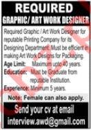 Graphic Designer & Art Work Designer Jobs 2020 in Lahore