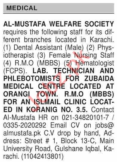Dawn Sunday Classified Ads 29 Nov 2020 for Medical Staff