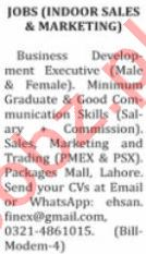 Nation Sunday Classified Ads 29 Nov 2020 for Sales Staff