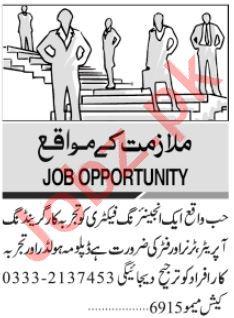 Granding Operator & Engineer Jobs 2020 in Karachi